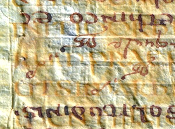 Latin Moses, scribal scoring