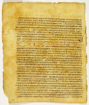 conventional image of page 111 of the Jubilees Palimpsest