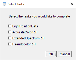 ImageJ Spectral RTI Toolkit, Select Tasks